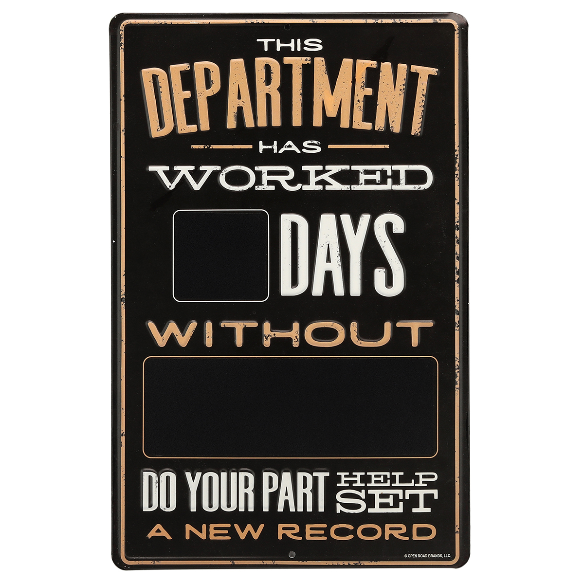 Details About Set A New Record Metal Sign With Chalkboard Paint